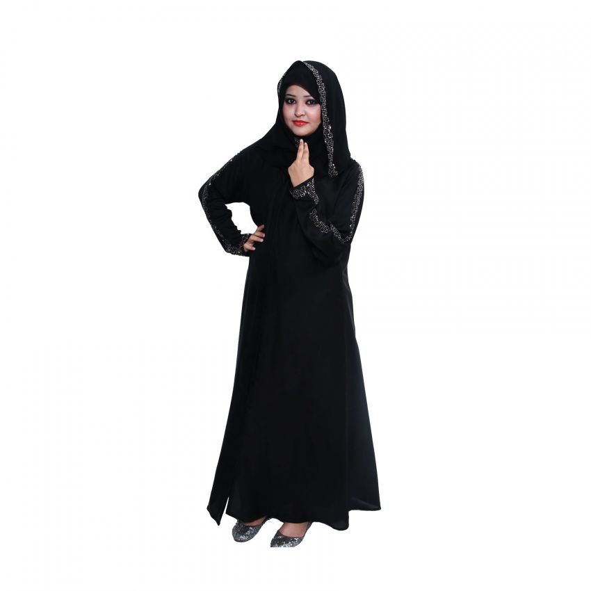 A Line Abaya for Ladies - Black