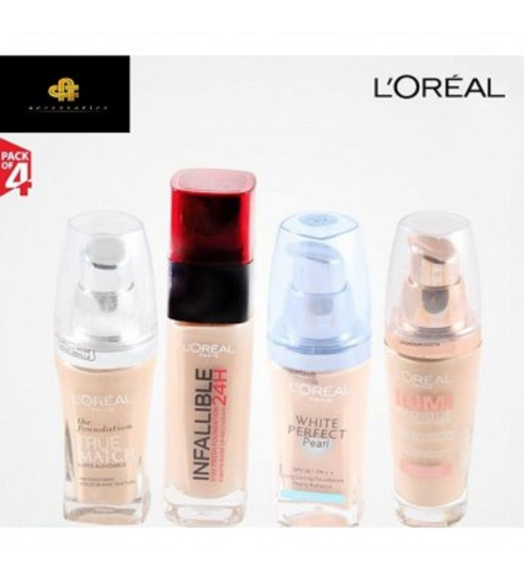 LOREAL Pack of 4 Makeup Products