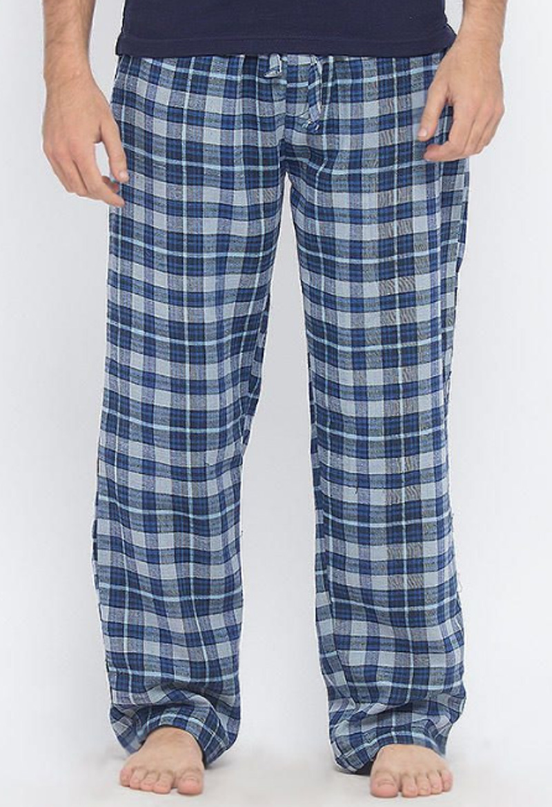 MARCO GREY & NAVY BLUE CHECKERED COTTON PAJAMA