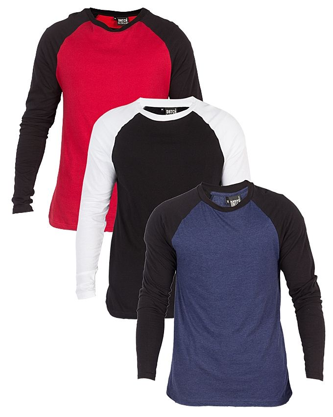 Just Clothing Pack of 3 - Multicolor Cotton Jersey T-Shirts For Men