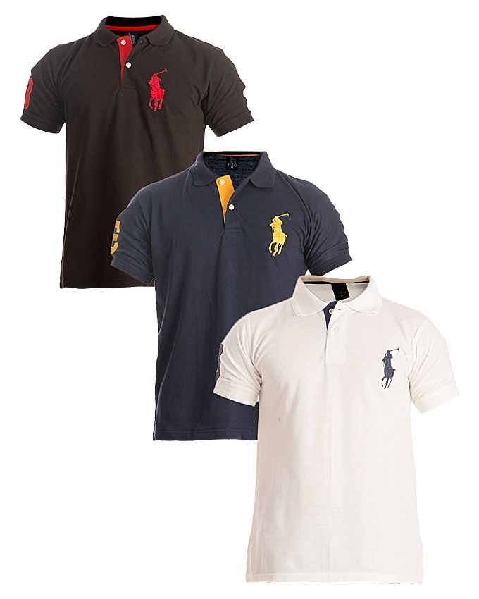 Pack of 3 - Multicolor Cotton Polo Horse T-Shirts