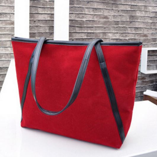 Red Suede Leather Bag