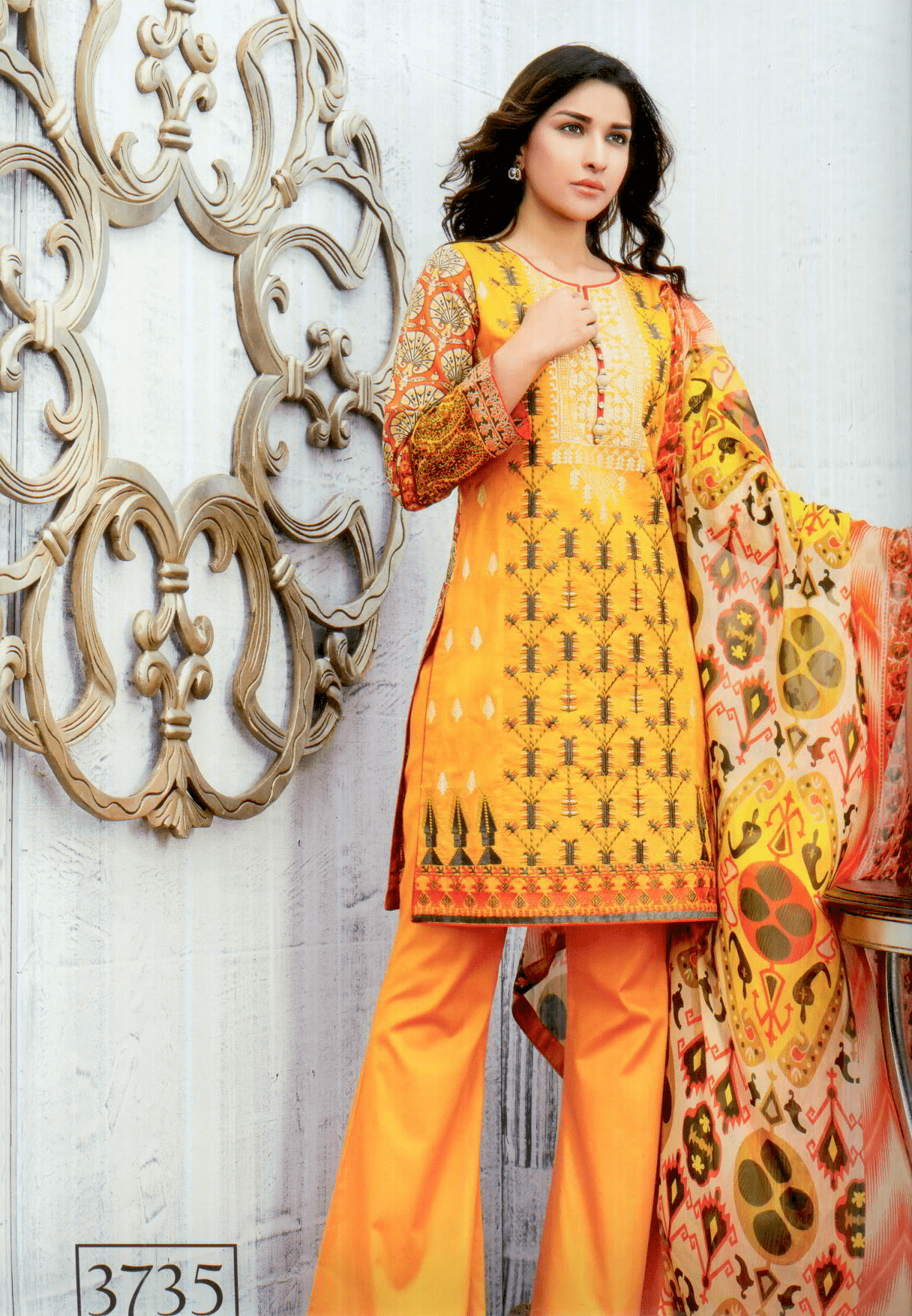 Aliza wardrobe summer 17-Vol 1- Three piece chiffon suit-3735