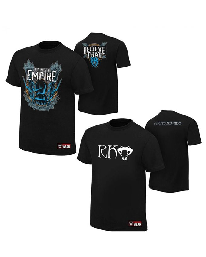 Ace Pack of 2 WWE T Shirts Roman and RK