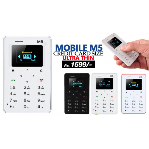 Credit Card Size Mobile M5