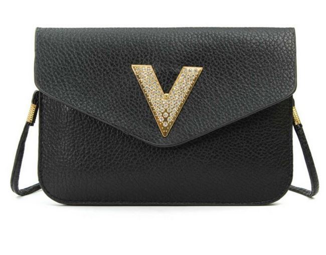 V Letter Womens Shoulder Bag