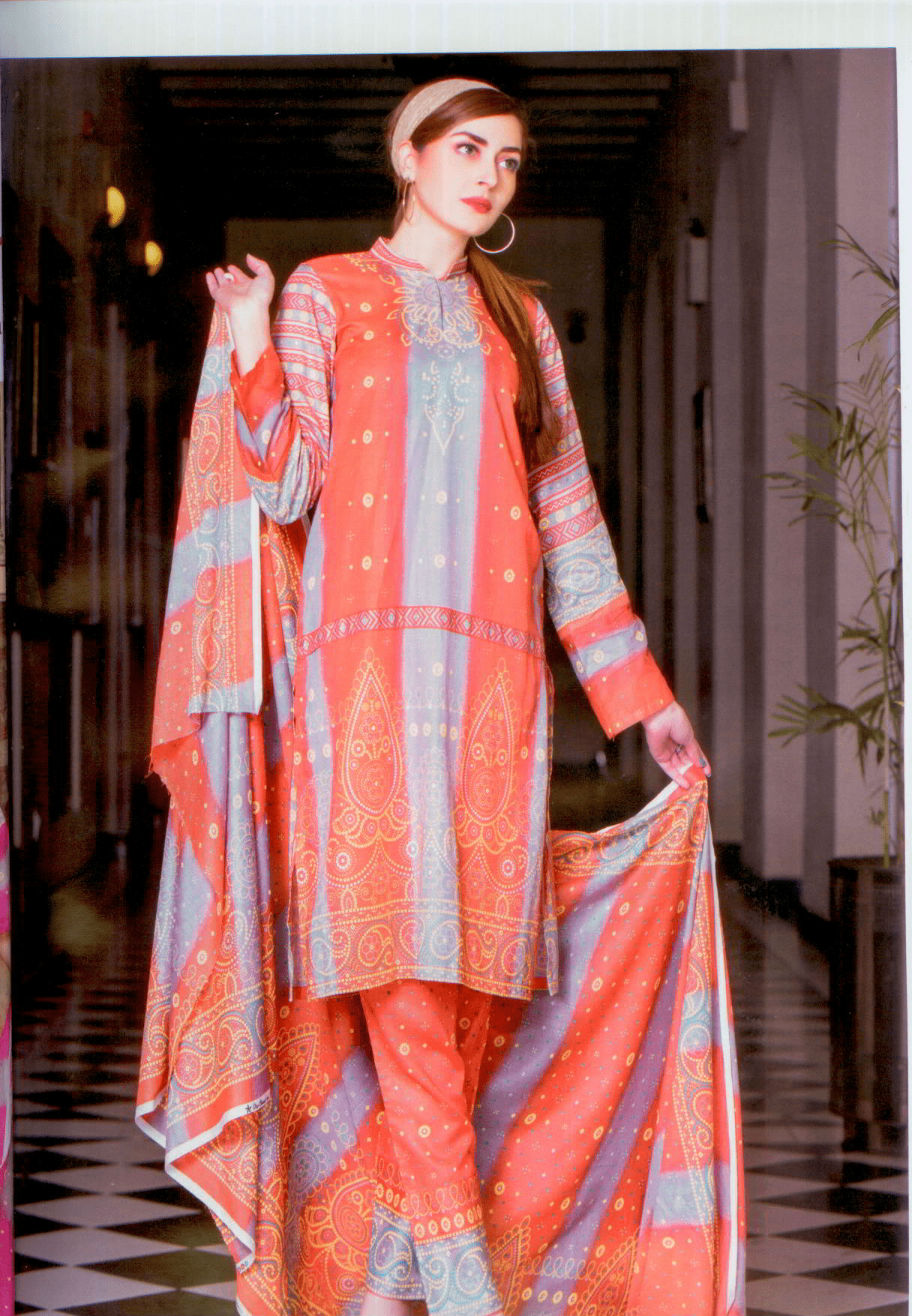Star Printed Lawn suit-Vol 4- Summer 2017