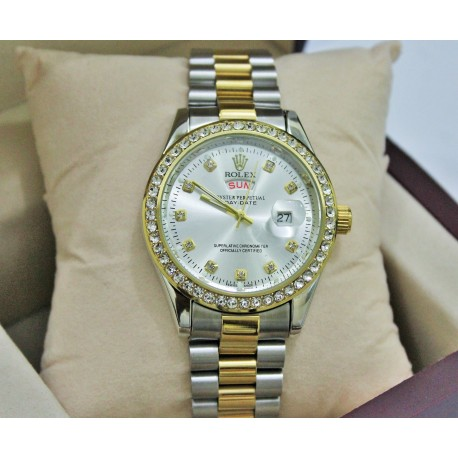 ROLEX OYSTER PERPETUAL DAY-DATE- Silver & Golden