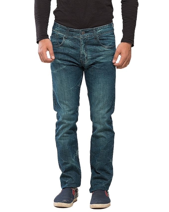 CrossRoads Dark Blue Denim Jeans For Men