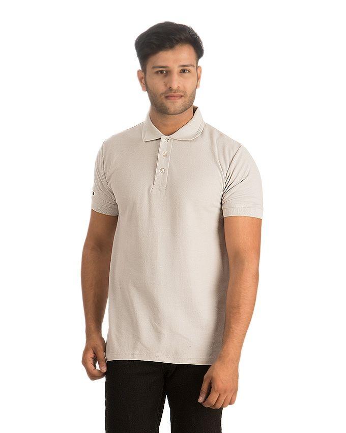 Essentials Grey Plain Polo Shirt For Men
