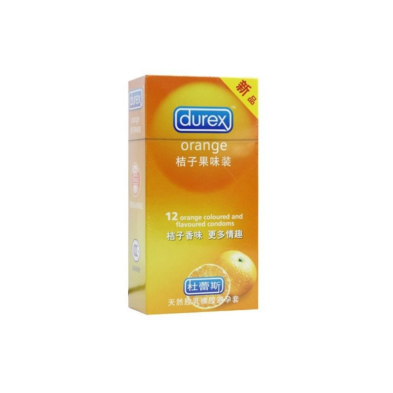 Durex Orange flavoured condoms 12 pieces