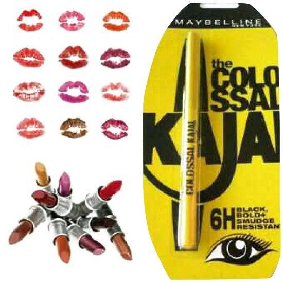 Pack of 6 Lipstick with Kajal Gift