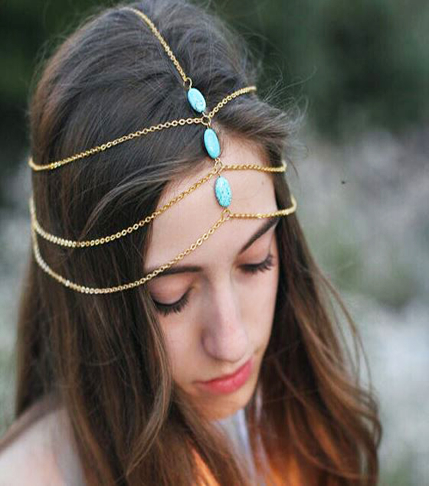 Turkish Turquoise Hair Wear