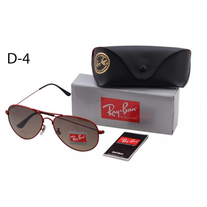 RB Red Frame Sun Glasses