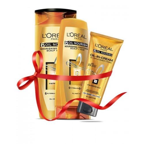 L'Oreal Paris Free Oil-in-cream 100ml with 6 Oil Nourish Shampoo