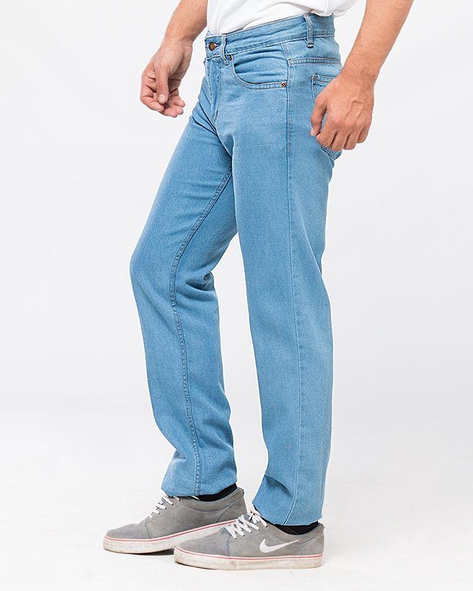 Karachi Wearhouse Ice Blue Jeans For Men