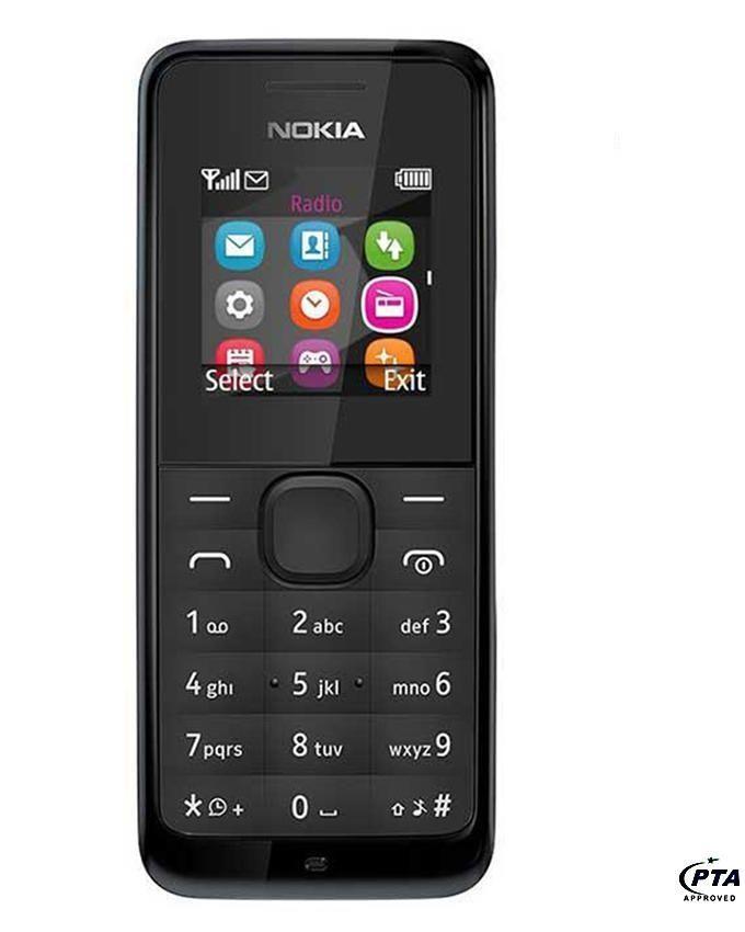 """Nokia 105 - 1.45"""" - Dual Sim - Black"""