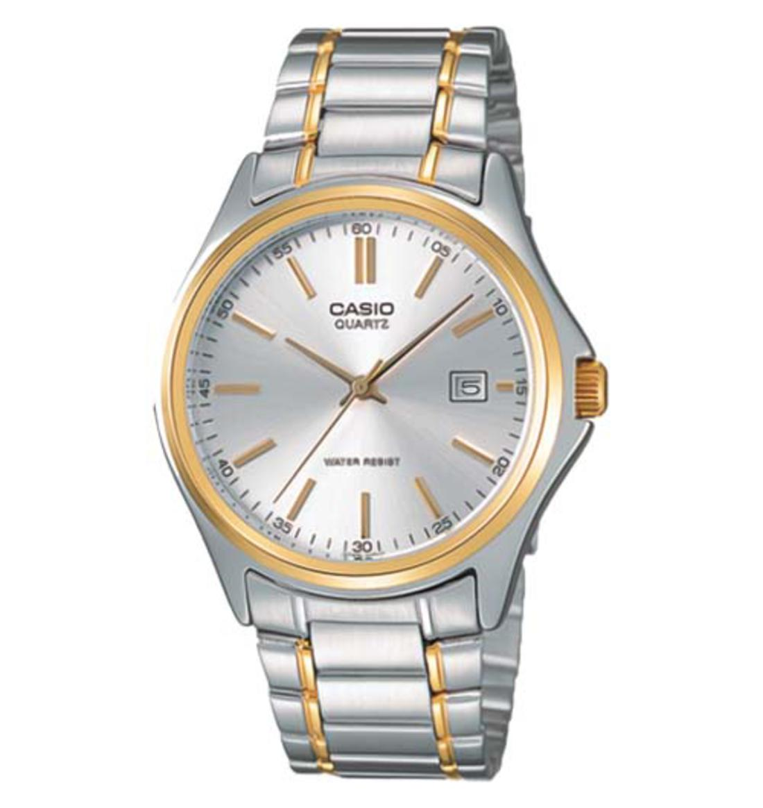 Casio Men's Silver & Golden Watch-MTP-1183G-7A
