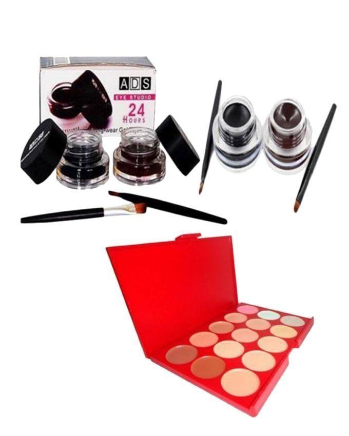 Pack of 5 - Eyeliners & Ultimate Concealer Palette - Multicolour