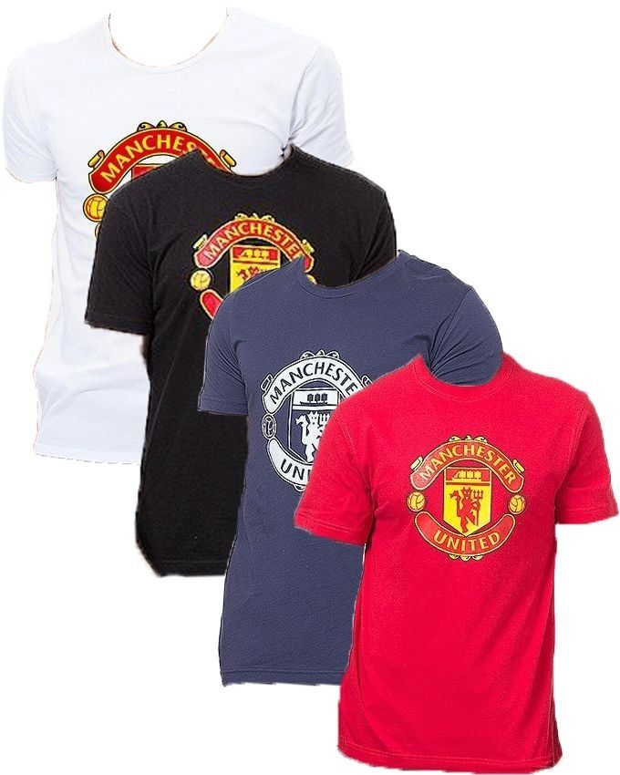 Pack of 4 Multicolour Cotton Manchester United T-S