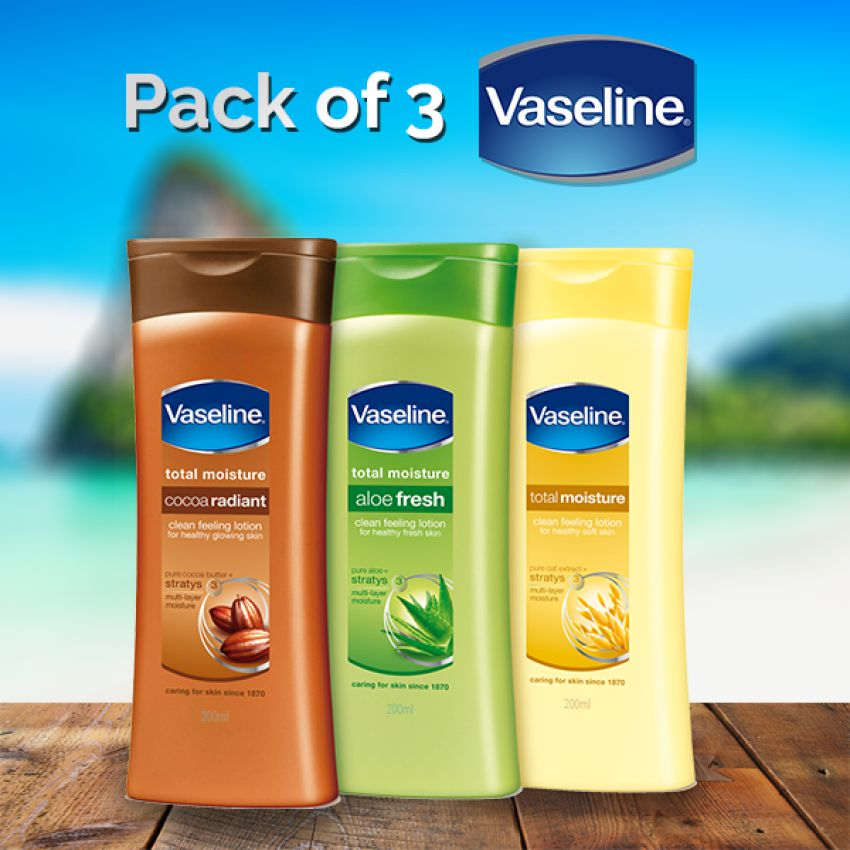 Vaseline Lotion Pack of 3