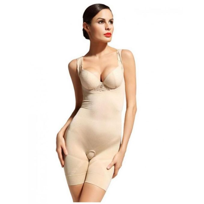 Comforts Beige Polyester Body Shaper For Women