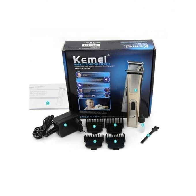 Kemei KM-5017 - Professional Hair Clipper & Trimmer Machine For Men - Silver