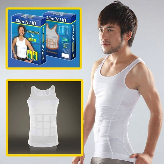 White Slim N Lift Slimming Vest for Men
