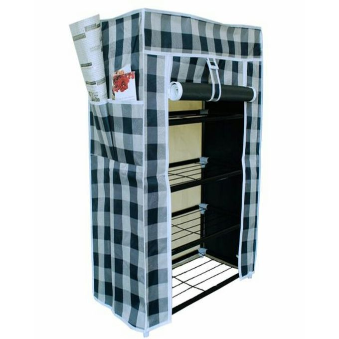 MultiLayer Dustproof Shoe Rack & Wardrobe - 3x2 x1Ft - Multicolor