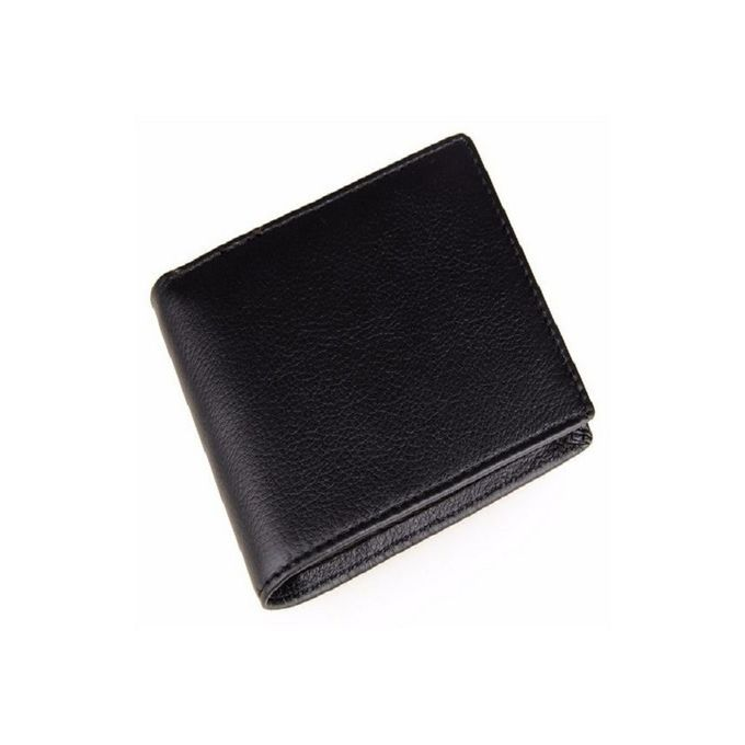Leather Craft Black Leather Wallet for Men
