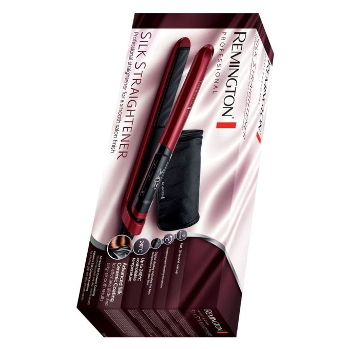 Remington S9600 - Silk Hair Straightener - Red