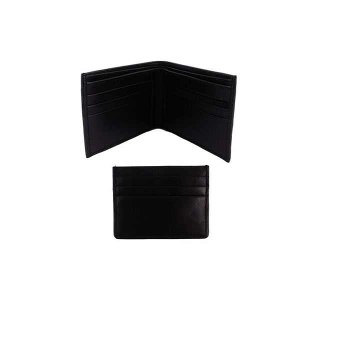 Pack of Two - Men Leather Wallet and Card holder - D-68