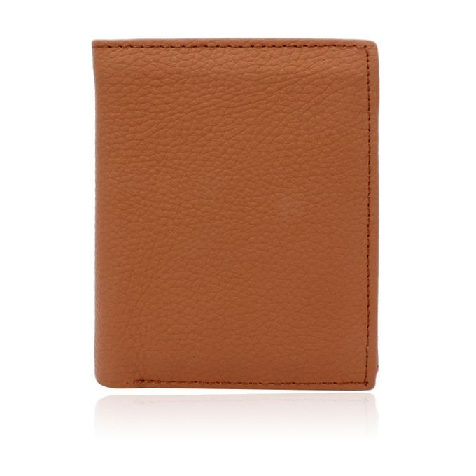 Mustard Leather Men Vertical Style Wallet
