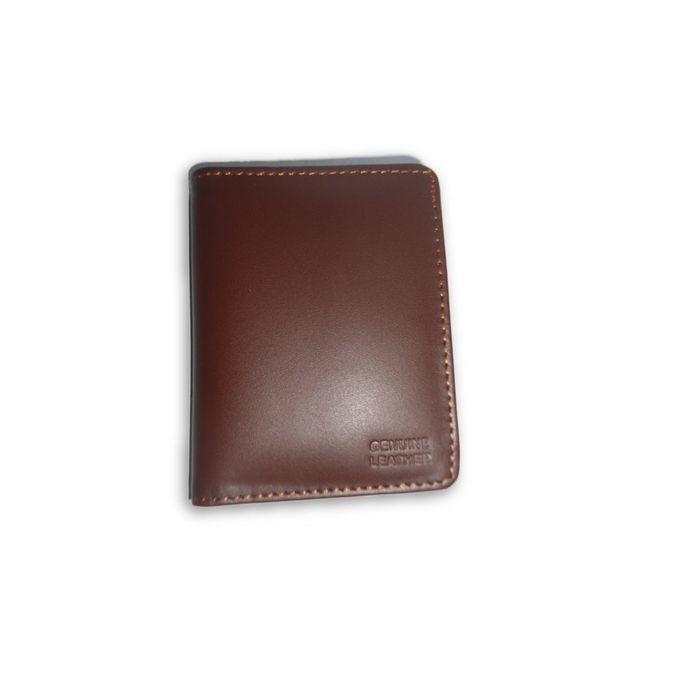 Genuine Leather Card Holder & Cash Wallet - Brown