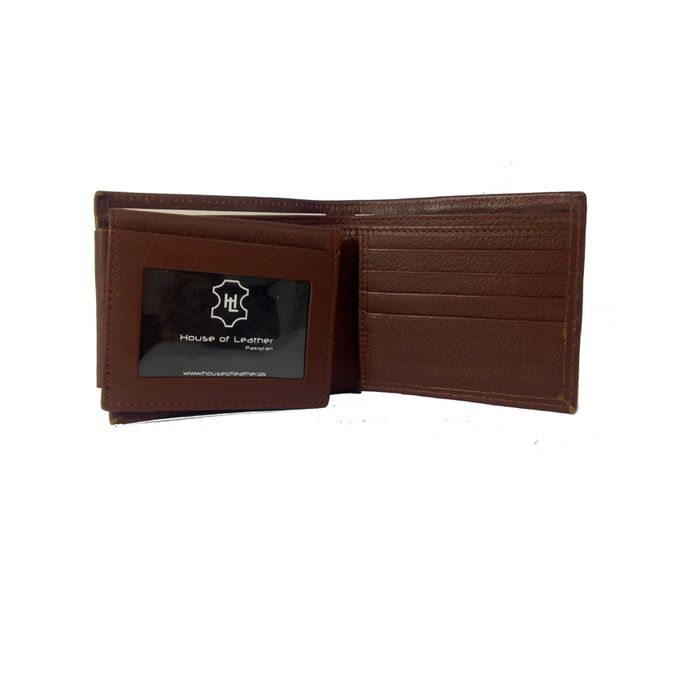 Brown Textured Leather Wallet for Men W-890