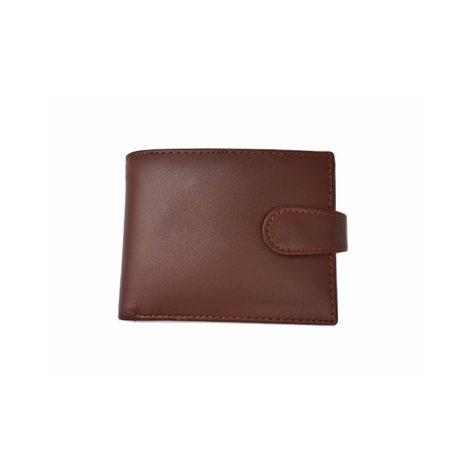 Mustard Snap Closer Leather Wallet For Men XB355