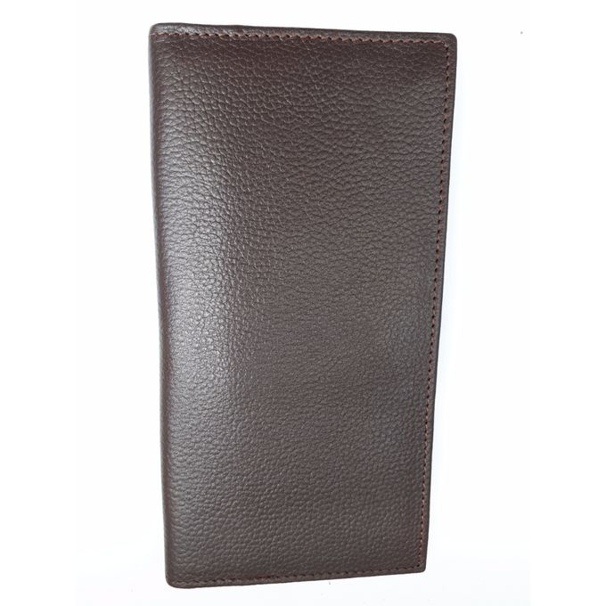 Dark Brown Visiting Card & Money Holder Book Leather Wallet