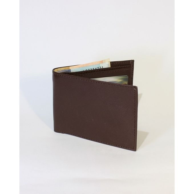Walnut Brown Leather Bifold Wallet for Men