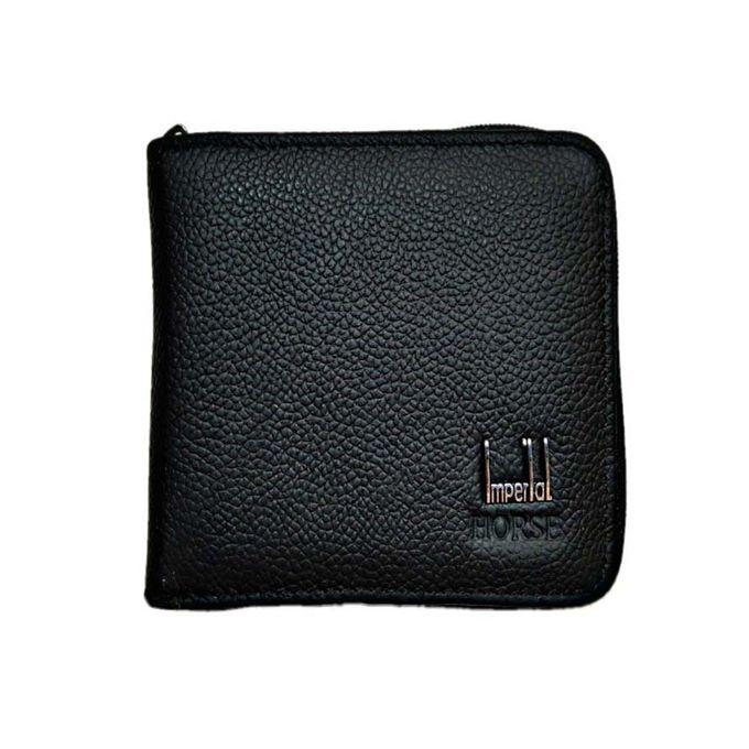 Imperial Horse Black Leather Wallet For Men