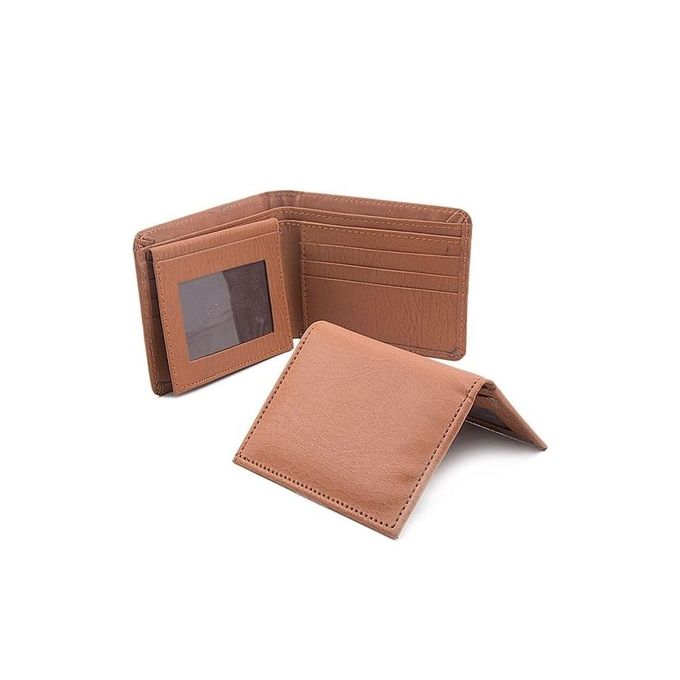Brown - Leather Wallet and card holder