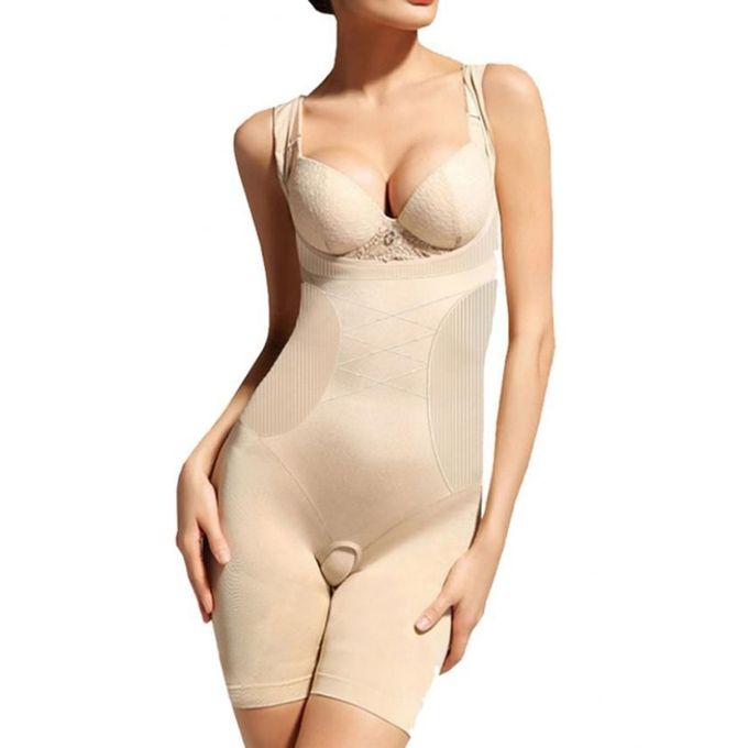 Flourish Beige Polyester Body Shaper For Women