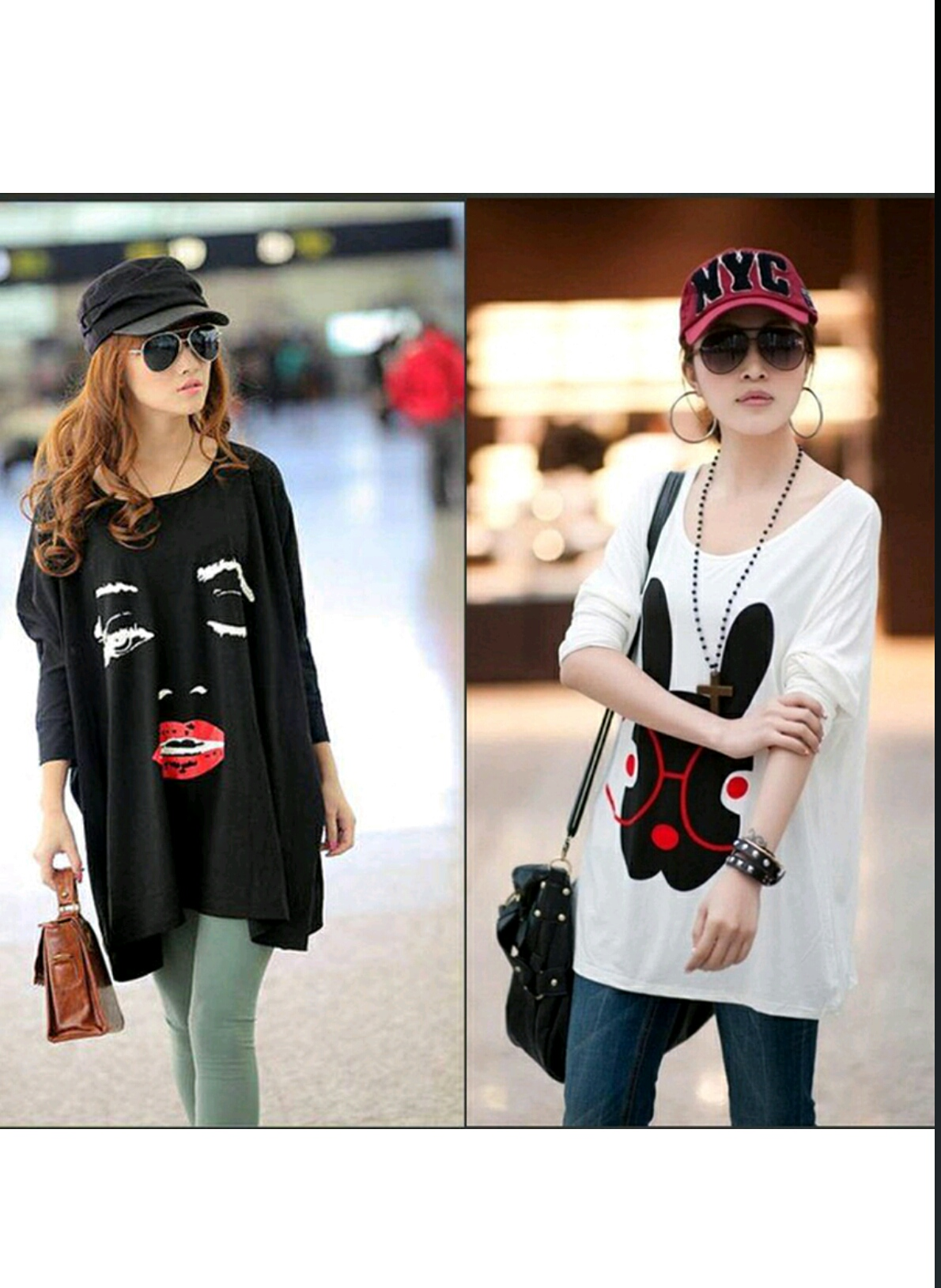 Pack of 2 Stylish Cartoon Tops For Her..