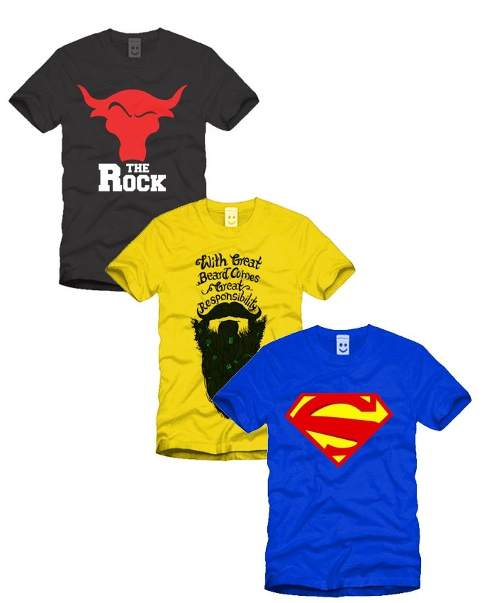 Ace Pack of 3 - Multicolor Cotton T-Shirt For Men