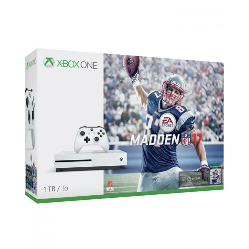 Microsoft Xbox One S Madden 1TB(HDD) Bundle White NFL 17