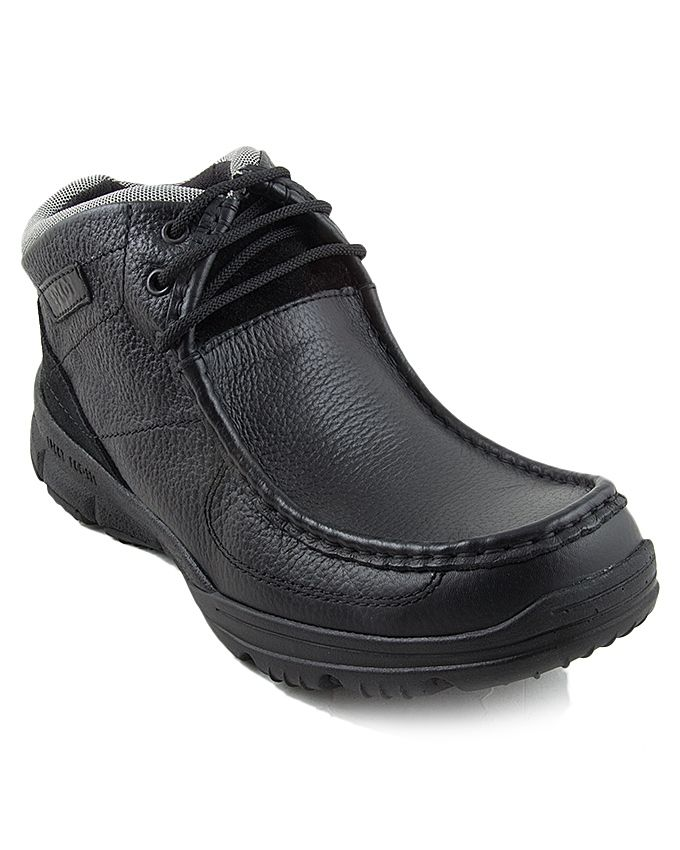 Epcot Black Leather Mexico Falcon Boots For Men