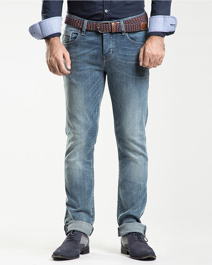 Stoneage Sky Blue Denim Mader Jeans For Men