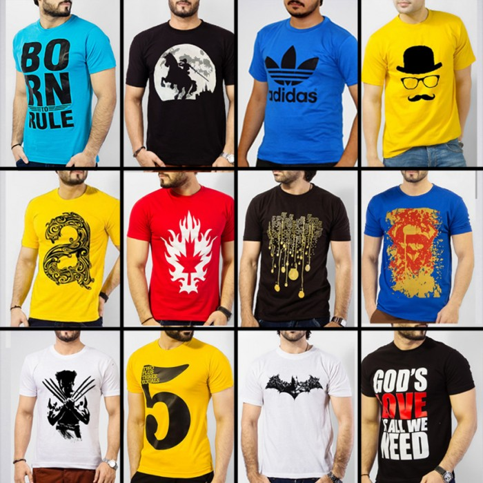 Pack Of 5 MIX Printed T-Shirts. MIX5
