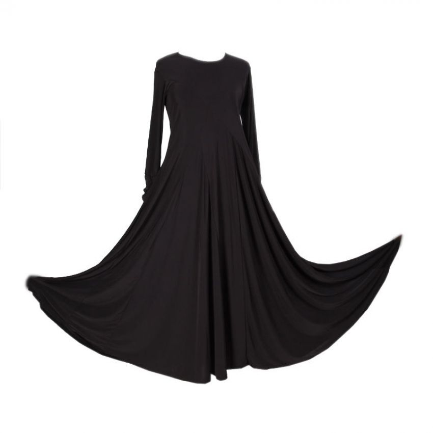 Simple Abaya for Women - Black