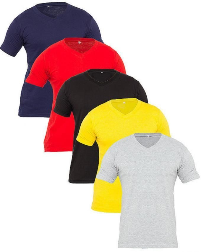 Mardaz Pack of 5 - Mutlicolor Cotton T - Shirtsfor