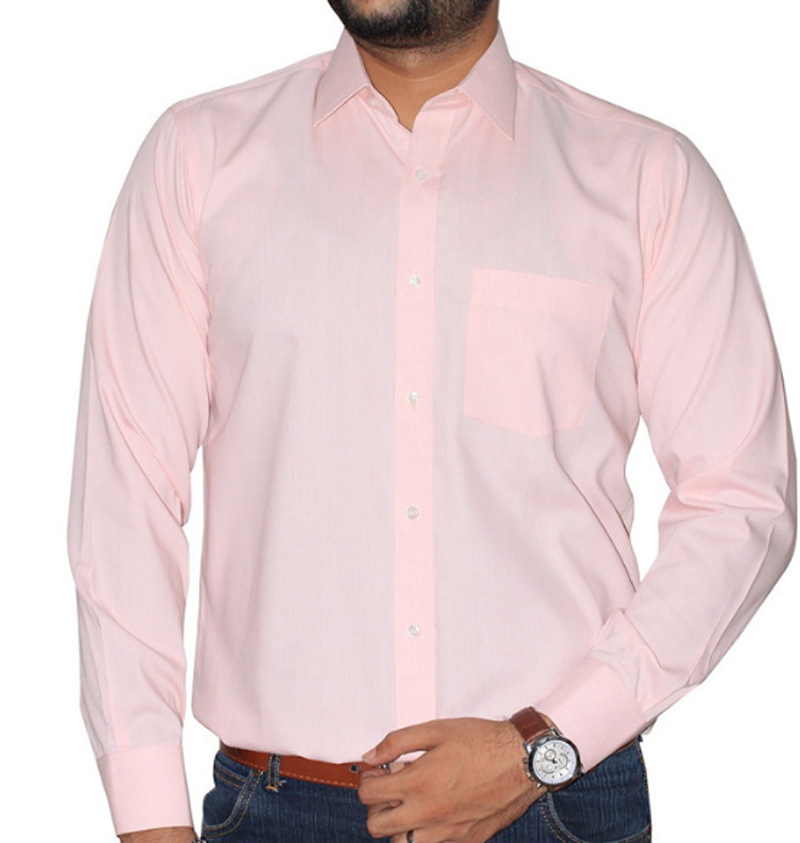 CASUAL PLAN PINK SHIRT - (Sav)